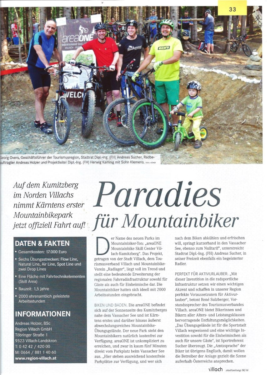 Villacher Stadtzeitung: Paradies für Mountainbiker