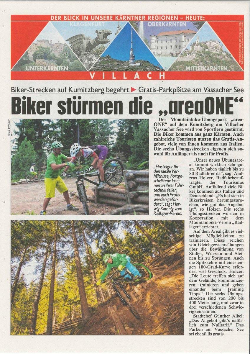 Krone Zeitung: Biker stürmen die areone