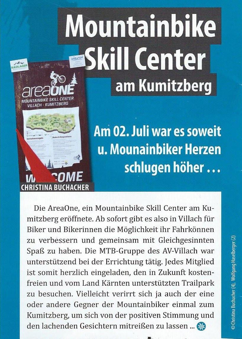Alpenverein Villach – Mountainbike Skill Center am Kumitzberg