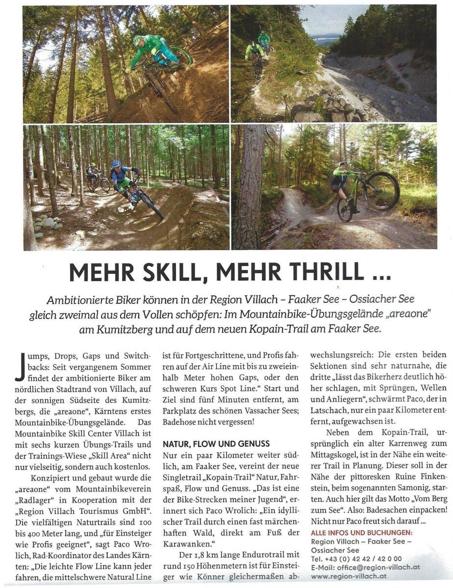 """Bikelust auf der Südseite der Alpen: areaone liegt der Zeitschrift """"Bike April 2017"""" bei"""