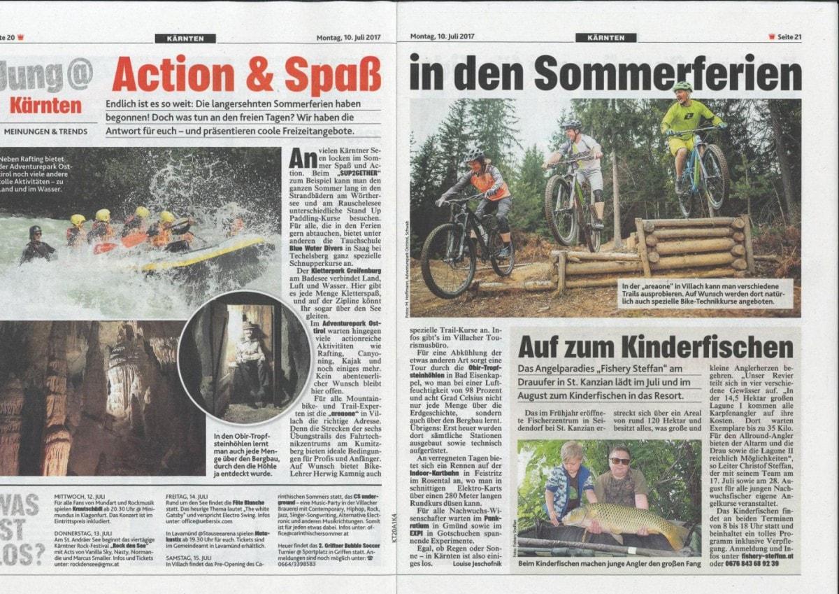 Kronen Zeitung: Action & Spaß in den Sommerferien – areaone inkludiert